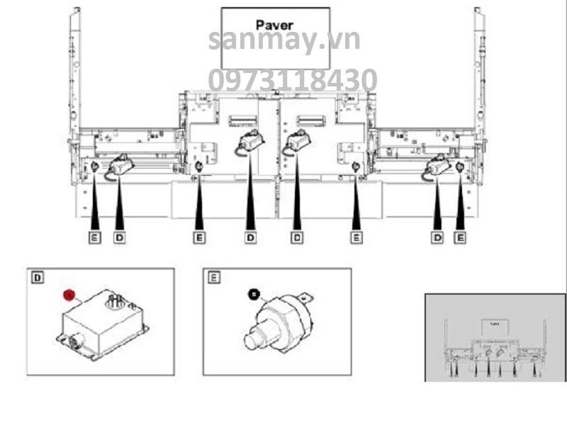 Bộ Đánh Lửa Bàn Đầm Máy Rải Thảm Dynapac SD2500C
